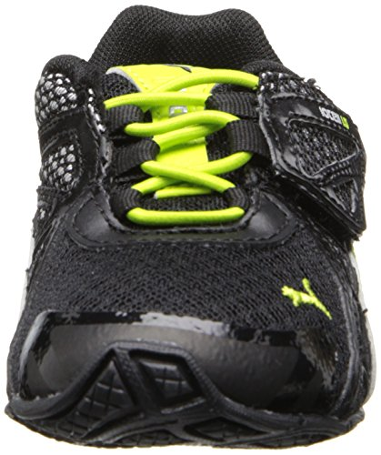 Puma Voltaic 5 Kids Synthetik Turnschuhe Black-Tradewinds-Lime-Punch