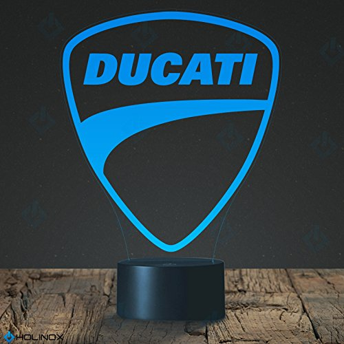 Preisvergleich Produktbild Ducati Logo Lamp, Ducati Racing Bike theme, Best Christmas gift, Decoration lamp, 7 Color Mode, Awesome Christmas gifts (MT241)