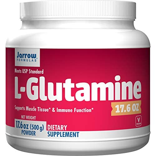 51fLWijxteL. SS500  - Jarrow Formulas L-Glutamine, Supports Muscle Tissue & Immune Function, 17.6 Oz