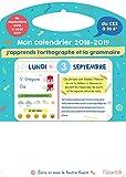Mon calendrier Mémoniak 2018-2019 J'apprends l'orthographe et la grammaire