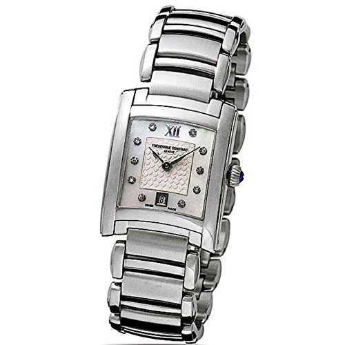Frederique Constant Carree Ladies fc-220whd2ec6b Quartz Watch (Rechargeable) quandrante Steel Silver Steel Strap