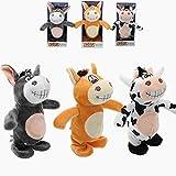 Spielen Sie Spaß Sprechen Esel Spielzeug, 3 STÜCKE 20 cm Reden Esel Stofftier Cow Walking Elektronische Kuh Weiches Spielzeug Kinder Geschenk