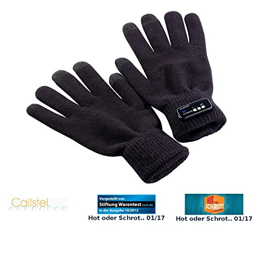 Callstel Telefonhandschuh: Freisprech-Handschuh Polyester mit Bluetooth, Damengröße (Telefon Handschuhe)