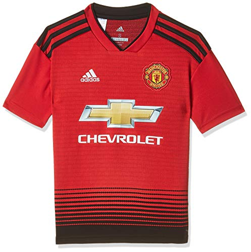 adidas Kinder Trikot 18/19 Manchester United Home, real red/Black, 140, CG0048 -