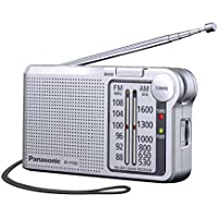Panasonic RF-P150DEG-S - Radio portátil (370mW, FM/Am, Radio de Bolsillo, LED, Radio Analógica) Color Plata