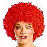 Rote Clown Perücke im Afro Look
