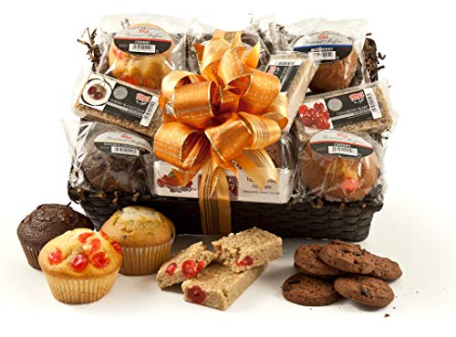 Hamper Gift Basket - Includes American Style Muffins, Cookies and Flapjack - Handmade Hampers Gift Box with Personalised Message - Ideal Gift for Family, Friends & Colleagues