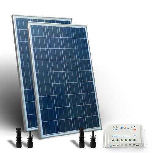 Kit Solare Base 200W Pannello Fotovoltaico + Regolatore 20A - PWM