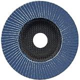 Aparoli SafeProtex 85562 Lot de 10 disques à lamelles Acier inoxydable, acier, bois et plastique Ø 125 mm grain 120
