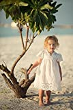 Mädchen Sommer Weiß Rock Kleid - Baby Engel Stil Hohle Kleider für Kleinkinder Kinder 2-7 Jahre alt - von Juleya/2-3 Jahre Test