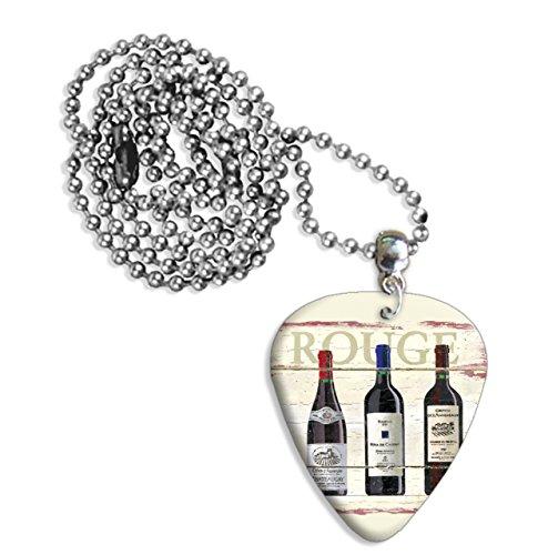 Rouge Wine Martin Wiscombe Gitarre Plektrum Pick Halskette Necklace Vintage Retro