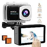 WiMiUS Action Cam 4K, 2.45'' LCD Touch Screen WIFI Actioncam 16MP HD 30M Unterwasserkamera Wasserdicht Action Kamera mit 2 Akkus und Zubehör Kits(L3-Schwarz)