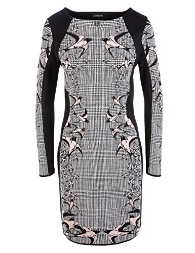 Marc Cain Collections Damen Kleid Hc 21.26 M11 Mehrfarbig (Black And White 910)