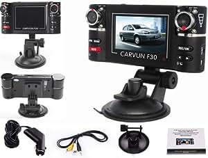 HD Dual Lens Car Camera Vehicle DVR Dash Cam Video Recorder Night Vision SOS 180