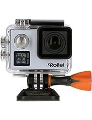 Rollei Actioncam 530 - WiFi Action Cam (Actionkamera) mit 4k Video Auflösung, Weitwinkelobjektiv, Bildstabilisierung, bis 40 m wasserfest, inkl. Unterwasserschutzgehäuse und Fernbedienung - Silber
