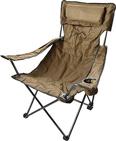 Campingstuhl Faltstuhl Klappstuhl Anglerstuhl Getränkehalter Stuhl Gartenstuhl für den Sommer Farbe Deluxe/Khaki