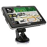 GPS Navigation 7 Zoll 8GB Tvird Touchscreen Navi GPS Navigationsgerät für PKW/LKW/Rettungswagen/Bus/Texi mit Fahrspurassistent, Geschwindigkeitsanzeige, Blitzerwarnungen und Lebenslange Kartenupdate Mehrsprachführung
