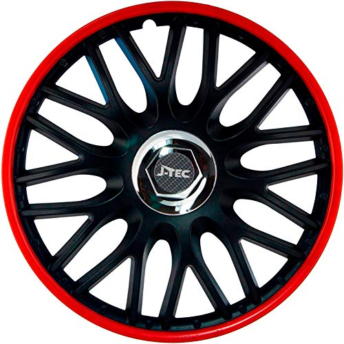 j-tec J16514 hub caps Orden, red/Black