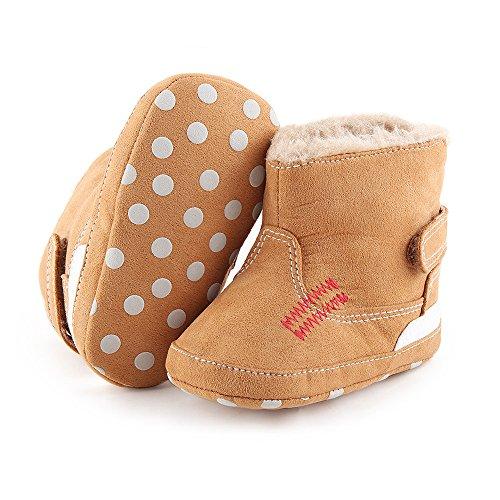 Hunpta Baby Schneestiefel weiche Sohle weiche Krippe Schuhe Kleinkind Stiefel (Alter: 6 ~ 12 Monate, Braun) Braun