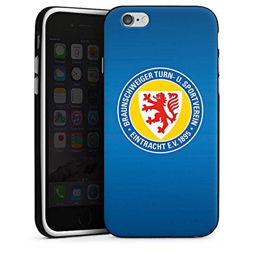 Apple iPhone 6s Hülle Case Handyhülle Eintracht Braunschweig Fanartikel Bundesliga Silikon Case schwarz / weiß