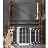 YONGYONG-Guardrail Selbstschließendes Baby-Schutzgitter 73,9-23,3 Zoll Super breiter begehbarer Kamin-Zaun für Treppenhaus, Schutzschiene mit Druckbefestigung, Metall, High78cm Width, 76-83cm