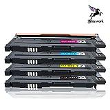 Fituwork 4x CLT-P404C / CLT-404S (CLT-K404S CLT-C404S CLT-M404S CLT-Y404S) Cartucho de tóner Compatible para Samsung Xpress SL-C480 SL-C480FW SL-C480W SL-C480FN SL-C430 SL-C430W SL-C482 SL-C482W SL-C482FW SL-C432 SL-C432W SL-C433 SL-C433W SL-C483FW SL-C483W