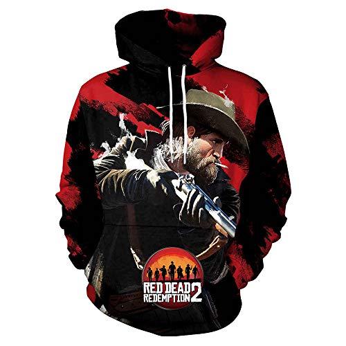 MAKEBO Pullover Sweatshirt 3D Gedruckter Tops Unisex Fashion Hoodie Freizeit Sport Party Eine handvoll Dollar - Für Eine Handvoll Dollar Kostüm