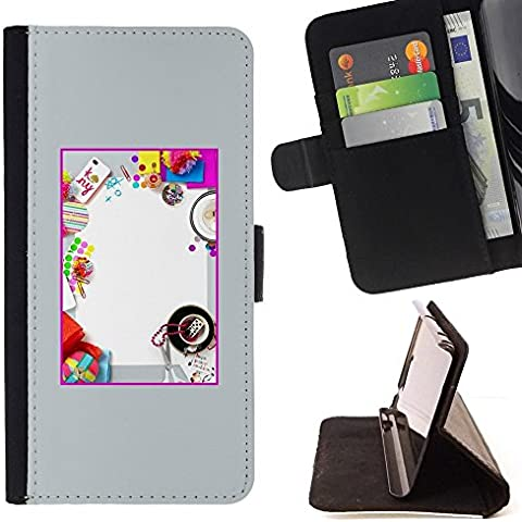 For Motorola Moto E ( 1st Generation ) Case , Bricolage Kids Fun Birthday Party - Credit Card Slots PU Wallet Pouch Housse de protection Skin Cas Case Coque