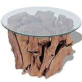 vidaXL Teck Massif Table Basse Table d'Appoint Table de Salon Table de Canapé...