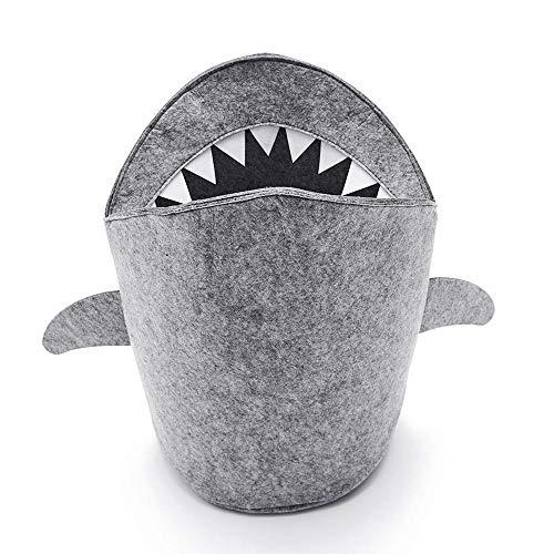 Umiwe Cesta de Almacenamiento de Fieltro, Organizador Grande Diseño de Tiburon Contenedor...