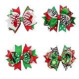 Frcolor 4 stücke Weihnachten Haar Bögen Kopfschmuck Kostüm Zubehör für Kleinkinder Jugendliche Kinder (2 + 5 + 7 + 12)