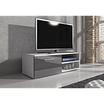TV Unit Cabinet Stand Vegas 120 cm Body Matte White / Fronts High ...