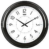 Horloge murale horloges salon créatif autour de l'horloge à quartz électronique muet simple forme réveil E538,14 cm, noir -538