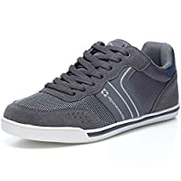 Alpine Swiss Men's Liam Fashion Sneakers Suede Trim Low Top Lace Up Tennis Shoes 12 Grey
