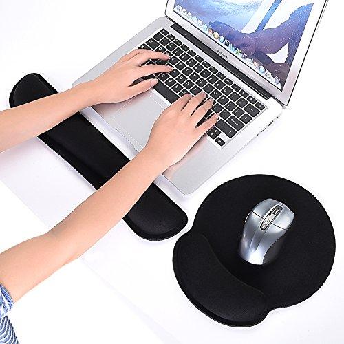 Uarter Handgelenkauflage Tastatur und Mousepad Ergonomisch Mauspad mit Gelkissen Mauspad Handauflage Tastatur für Laptop Computer