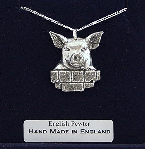 Collier Tête de Cochon avec Boîte à Cadeau