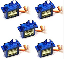 REES52 SERVOSG90 5x Pieces SG90 Micro Servo Motor 9G RC Robot Helicopter Airplane Boat Controls