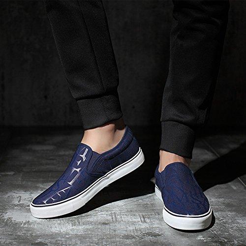 HUAN Chaussures de toile Hommes Chaussures de toile Chaussures de sport en plein air Exercice Sneakers Chaussures de course Deck Shoes blue