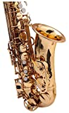 Classic cantabile 00037395 winds le saxophone alto aS-jaune (450 laiton finition antique vintage-clés hoch-fis, ergonomiques clétage)