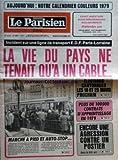 Telecharger Livres PARISIEN LIBERE LE No 10651 du 20 12 1978 AUJOURD HUI NOTRE CALENDRIER COULEURS 1979 INCIDENT SUR UNE LIGNE DE TRANSPORT EDF PARIS LORRAINE LA VIE DU PAYS NE TENAIT QU A UN CABLE ELECTIONS CANTONALES LES 18 ET 25 MARS PROCHAIN PLUS DE 100 000 CONTRATS D APPRENTISSAGE EN 1979 ENCORE UNE AGRESSION CONTRE UN POSTIER DANS LE XIIIA ARR MARCHE A PIED ET AUTO STOP (PDF,EPUB,MOBI) gratuits en Francaise
