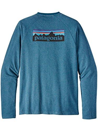 Herren Sweater Patagonia P-6 Logo LW Crew Sweater Big Sur Blue