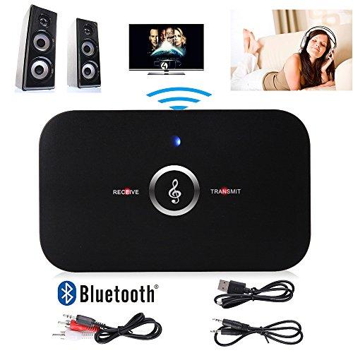 Lenuo Hifi Audio Transmitter Musik Receiver 2 in 1Bluetooth Sender Wireless Sender V2,1 Bluetooth Empfänger Audio Musik Receiver mit 3,5mm Aux