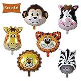 SMARCY Luftballon in Form von Tier für den Geburtstags-Deko-Ziemlich Effekt für den Kindertag 6er Set