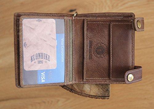 """Geldbörse mit Kette aus echtem Leder """"Tim Deer"""