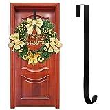 Yuccer Porta Appendiabiti, Door Hanger Metallo Porta Ghirlanda Gancio per Asciugamani Decorazione Natalizia 15 Pollici (1 Pacco)