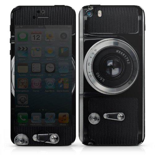 Apple iPhone SE Case Skin Sticker aus Vinyl-Folie Aufkleber Kamera Fotografie Objektiv DesignSkins® glänzend