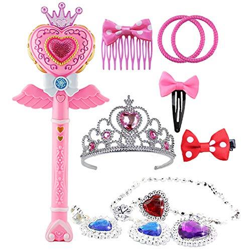 Joyibay 11PCS Kinderkostüm Zauberstab Leuchten Musikalische Prinzessin Wand Parteibevorzugung (Zauberstab Leuchten Prinzessin)