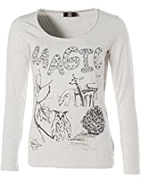 Jette Damen Langarm Shirt T-Shirt Rundhals MAGIC Glitzer