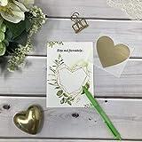 Rubbelkarten zum selber beschriften und personalisieren grün gold Blätter Eukalyptus 3er Pack
