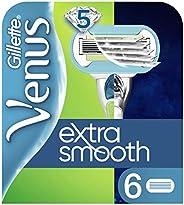 Venus Extra Smooth Reservblader, 6 Stycken